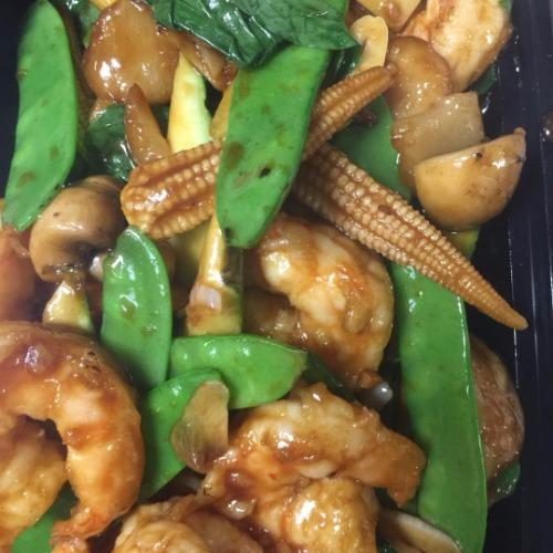Thai Basil Shrimp*