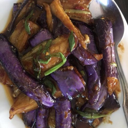 Eggplant in Garlic Sauce*