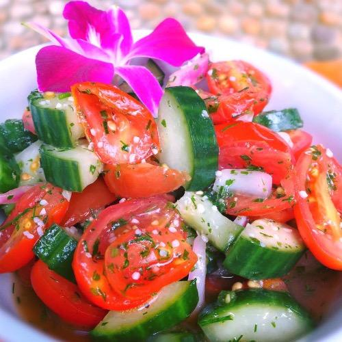 Polish Mizeria Cucumber-Cream Salad