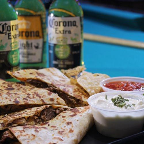 Grilled Chicken, Cheese & Bacon Quesadilla