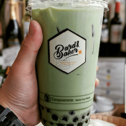 Iced Lavender Matcha Green Tea Latte