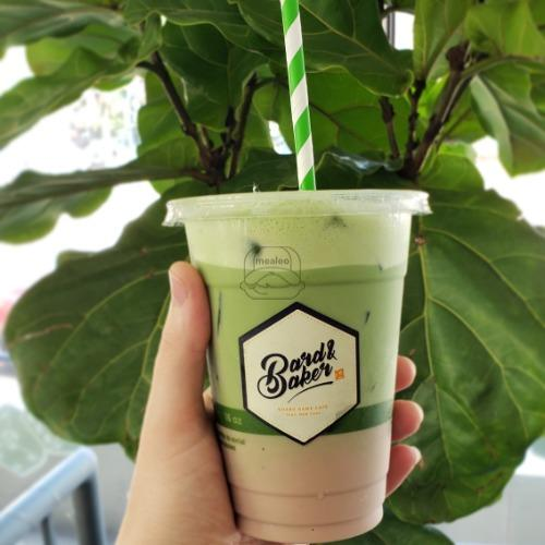 Iced Dirty Matcha Latte