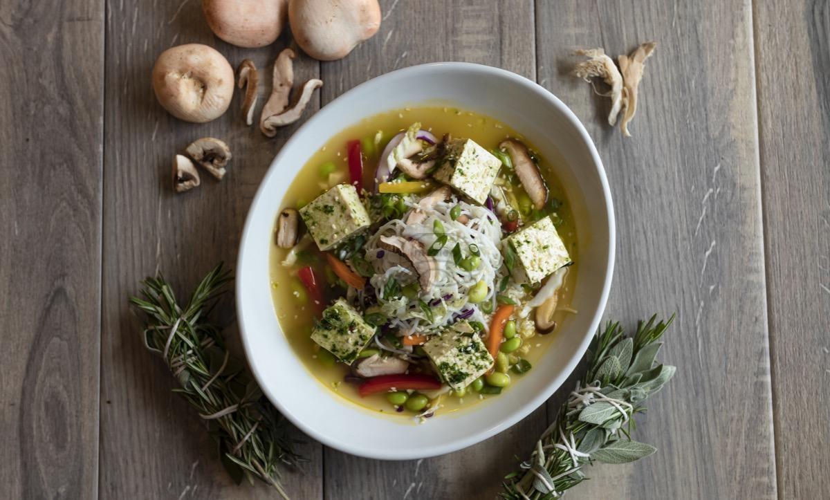 Mushroom Cabbage Broth Bowl