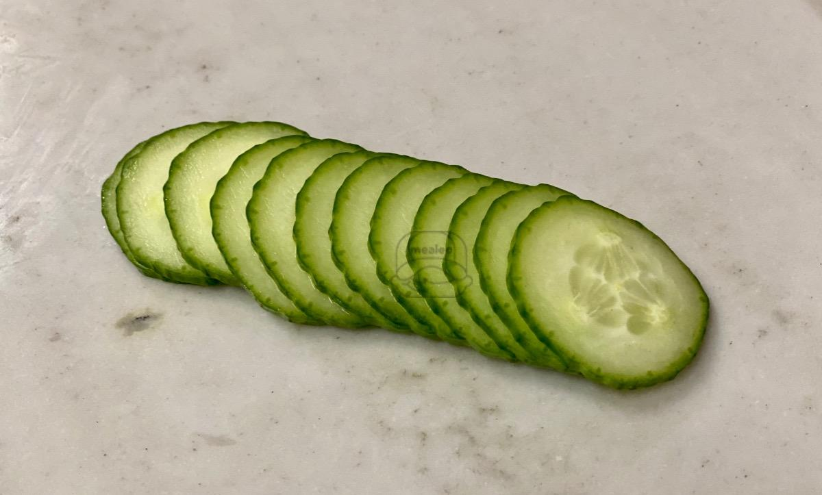 Side of Sliced Cucumber