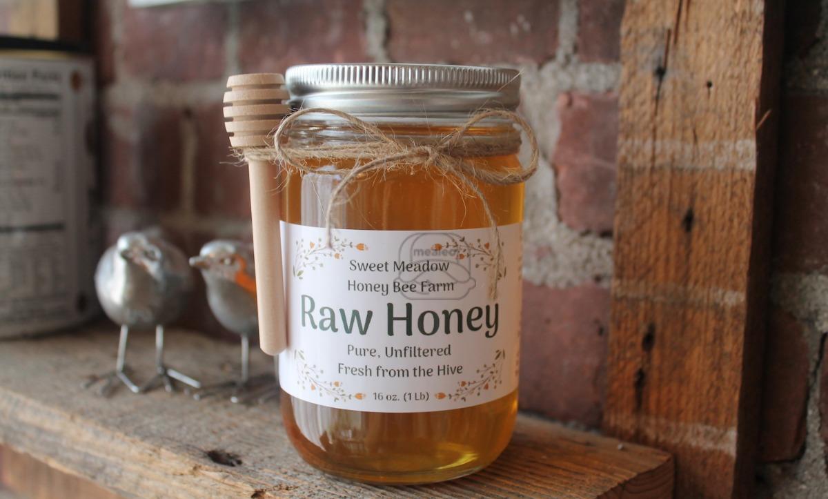 Sweet Meadow Honey Bee Farm Raw Honey