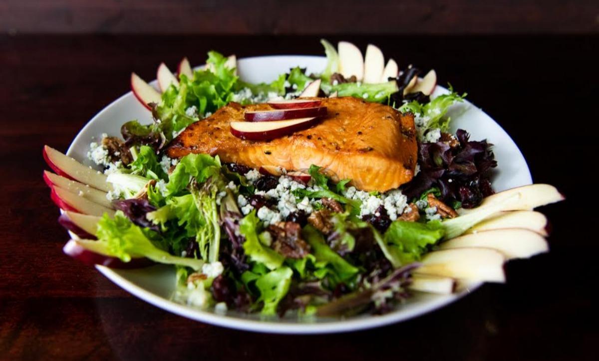 Kentucky Bourbon Pecan Salmon Salad