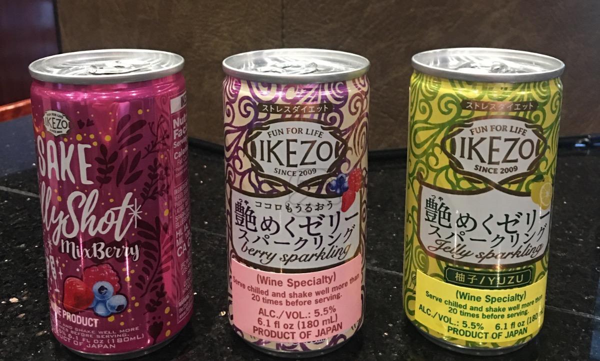 Jelly sake shot