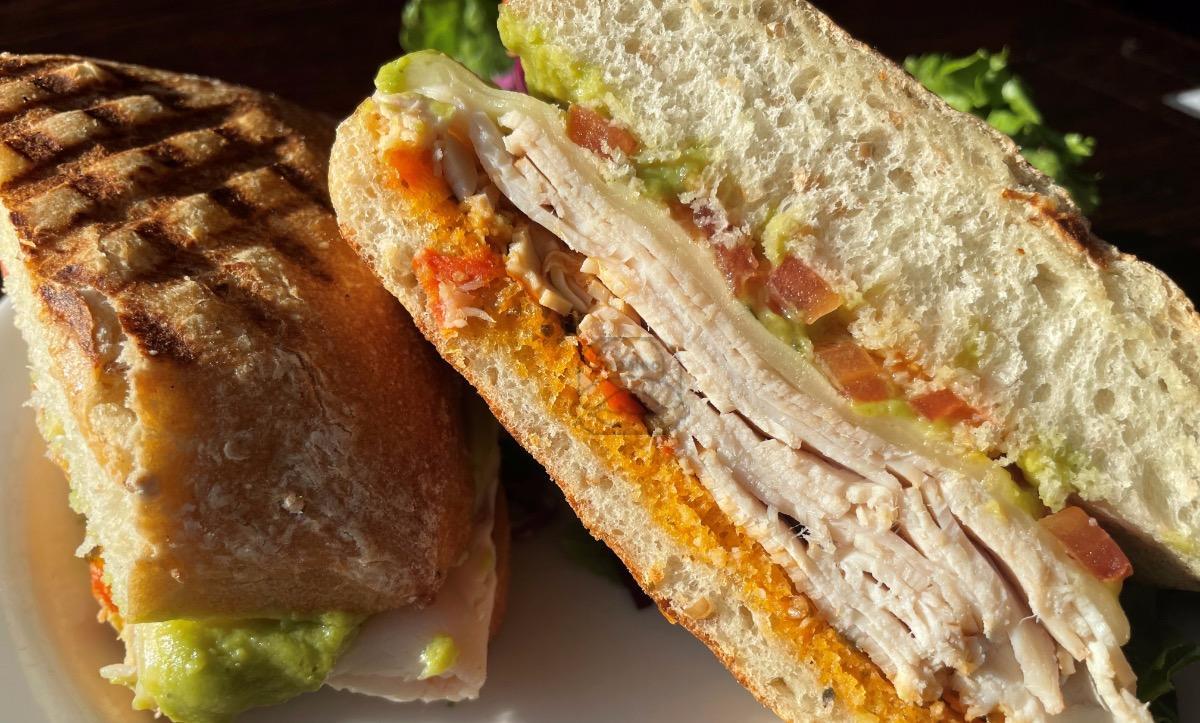 turkey & avocado panini