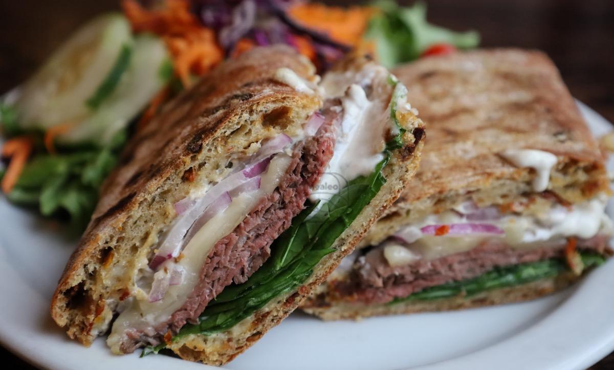 horseradish roast beef panini