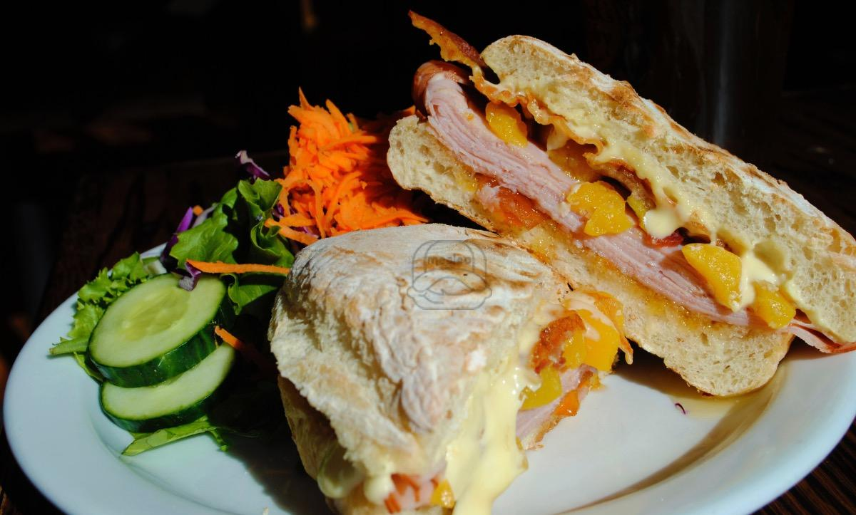 apricot, ham & brie panini