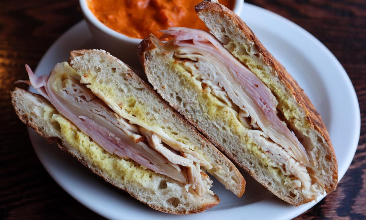 sweet turkey, ham & swiss panini
