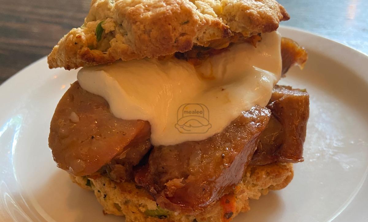 sausage sconewich