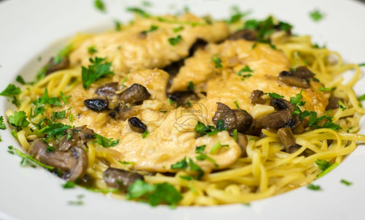 Chicken Marsala over Penne (Family Style)