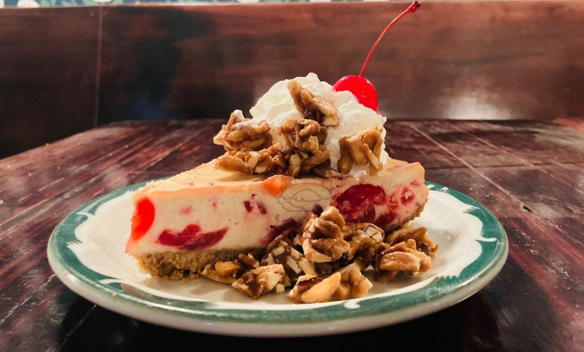 Almond Cherry Vanilla Cheesecake
