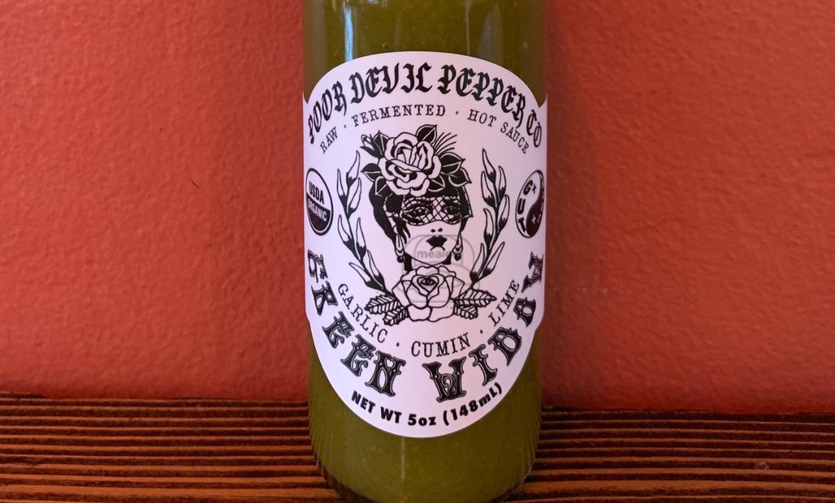 Poor Devil Pepper Co. Green Widow Hot Sauce