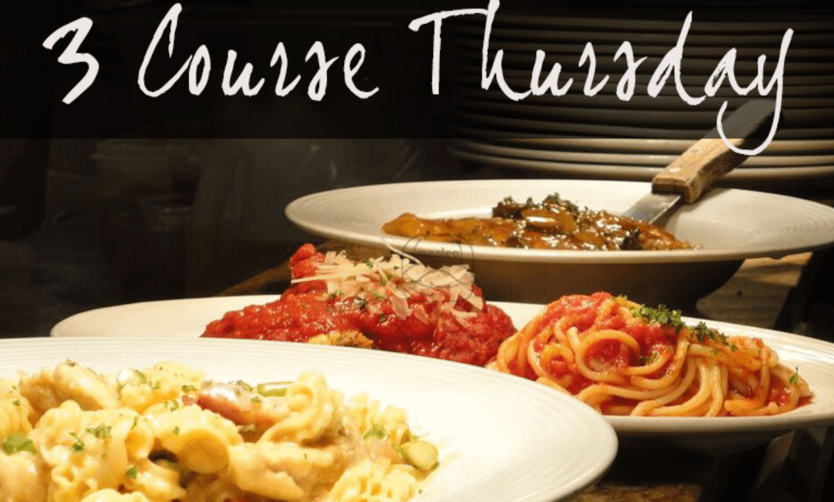 3 Courses Determined Weekly