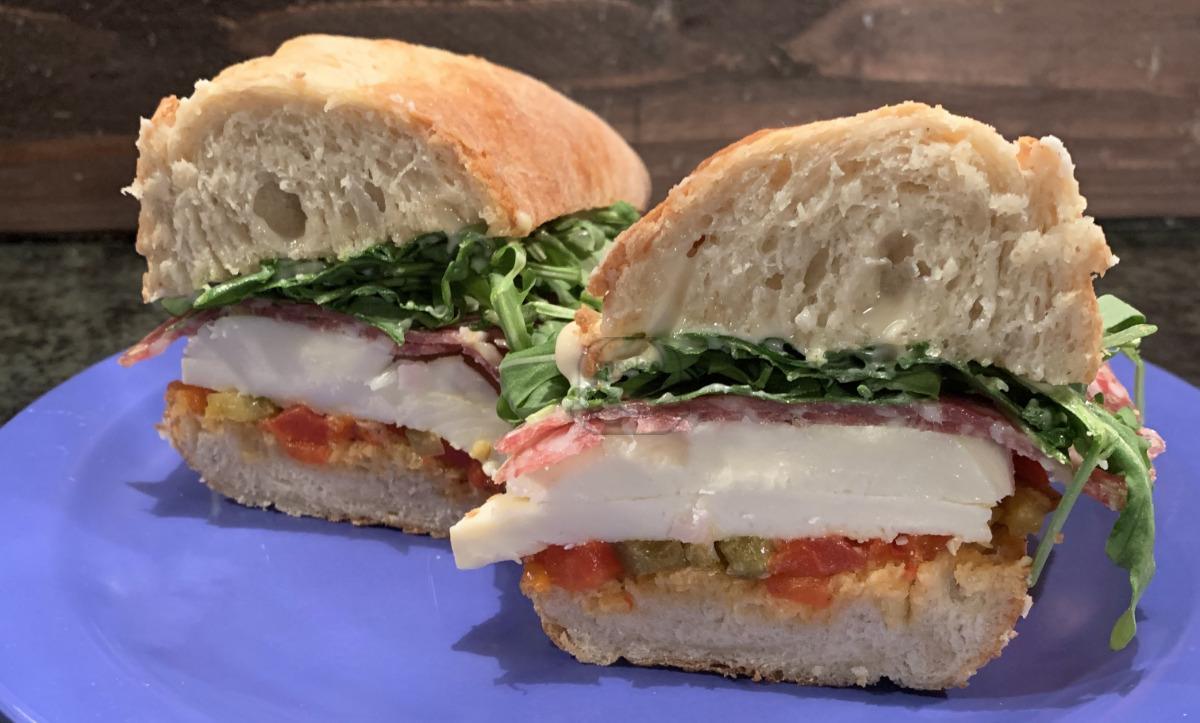 Mozzarella & Salami Sandwich