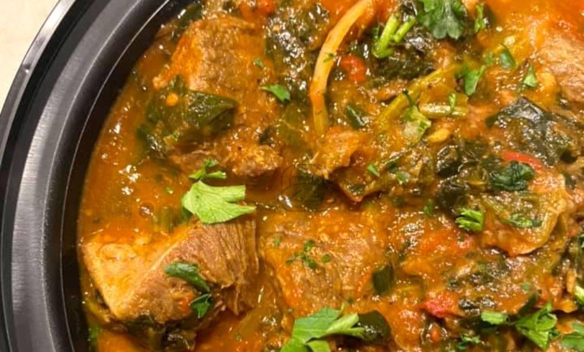 Lamb with Spinach Tagine
