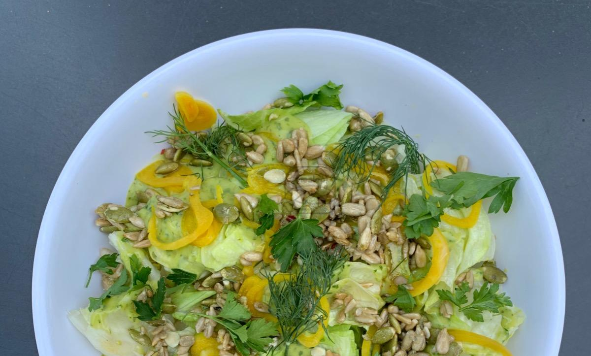 Goddess Wedge Salad (Vegan)