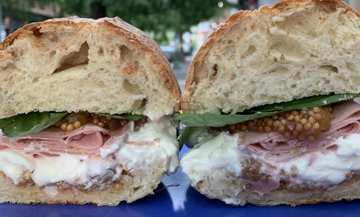 Mortadella & Burrata Sandwich
