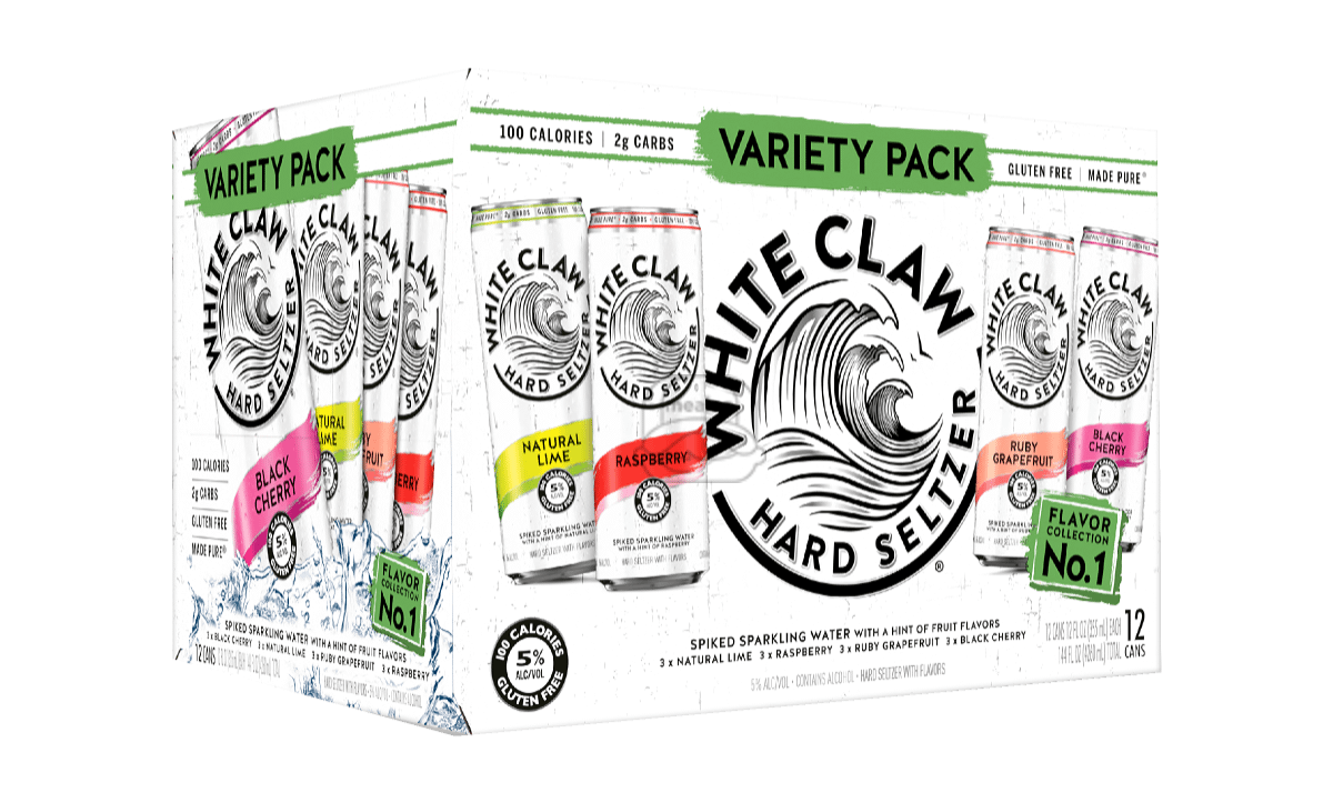 White Claw Seltzer #1 Variety (12-Pack)