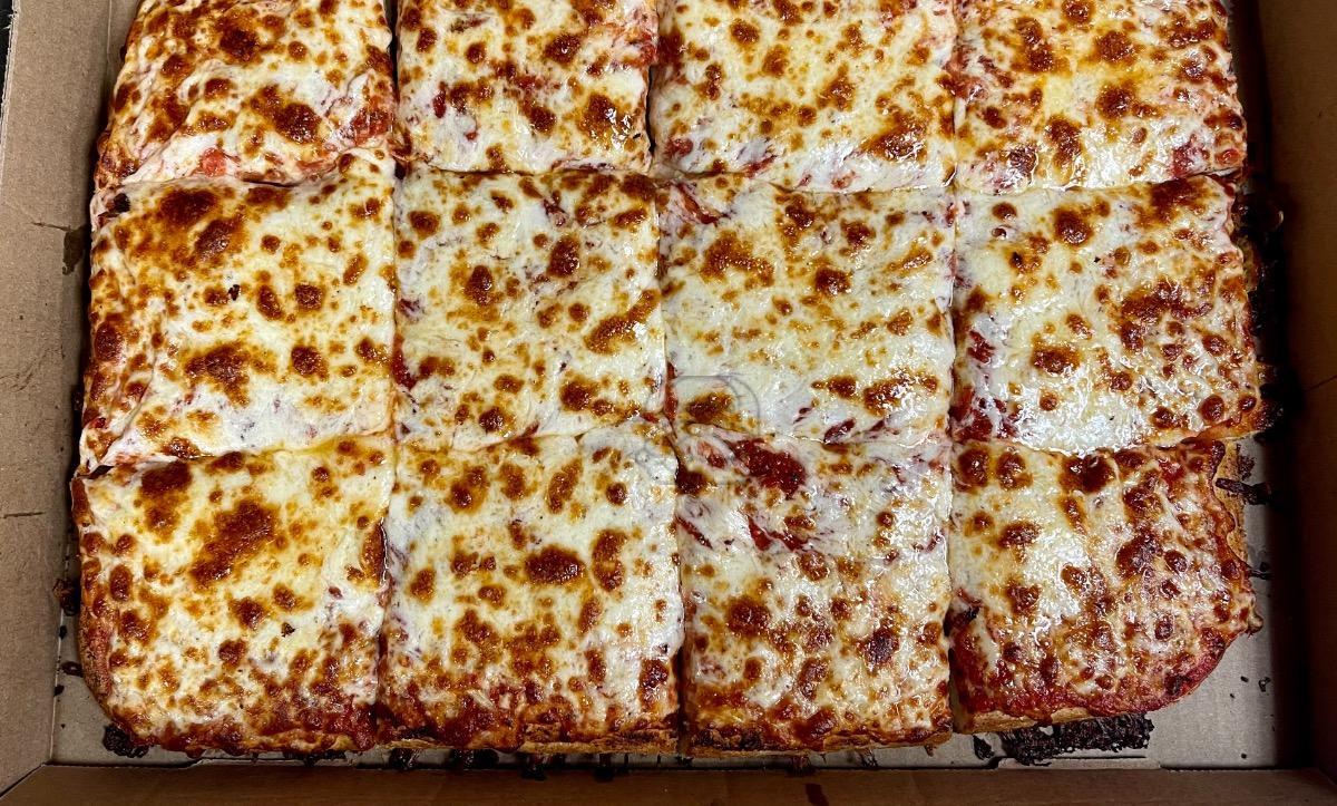 Sicilian Pan Cheese Pizza (12 Cut)