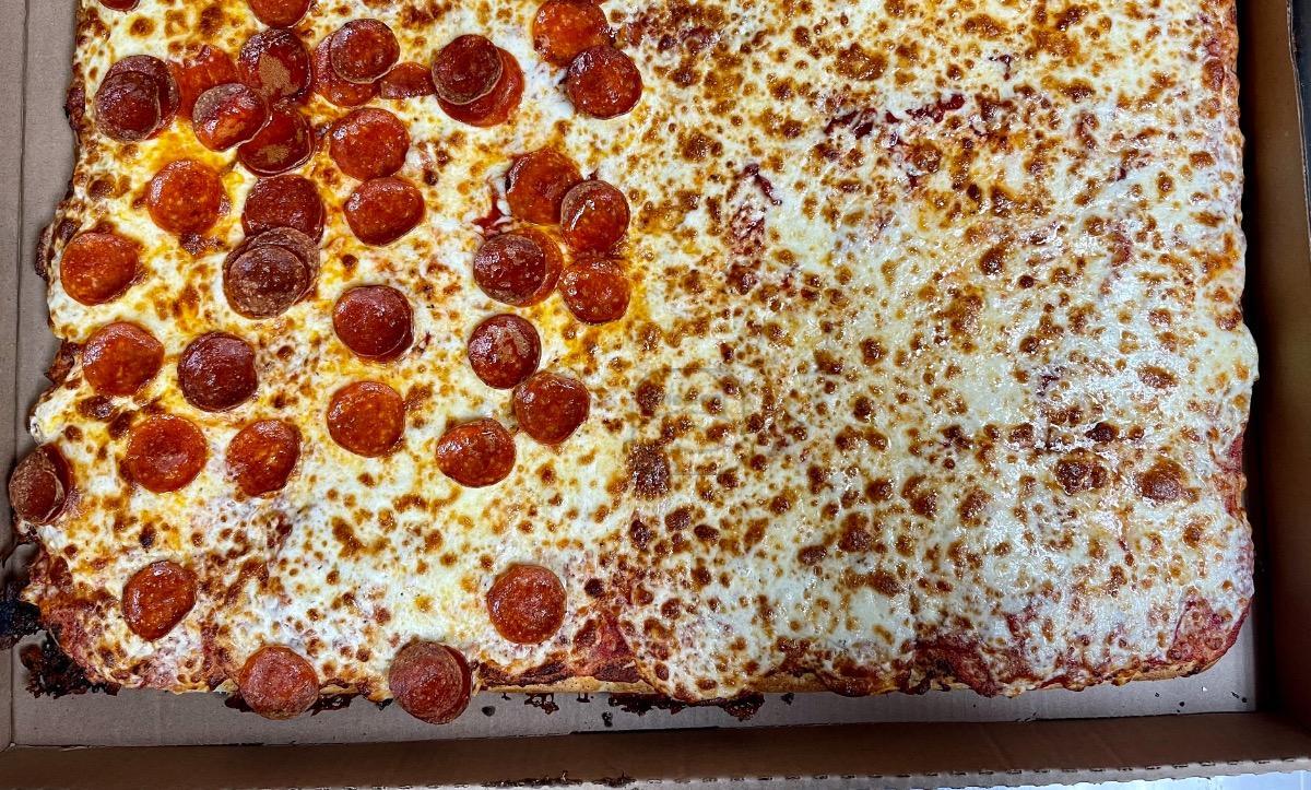 Square Sicilian Cheese Pizza (30 Cut)