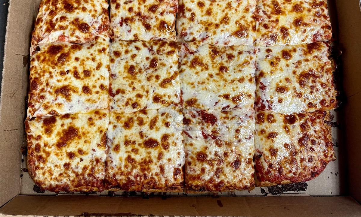 Square Cheese Pizza (12 Cut)