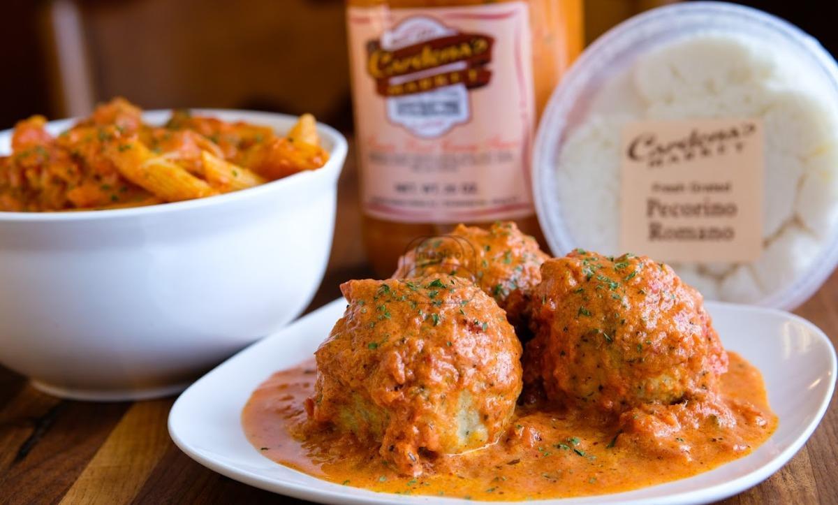 Chicken Meatballs w/ Penne