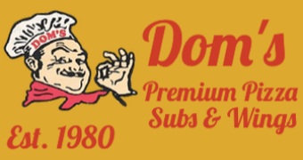 Order Delivery or Pickup from Dom's Pizza, Cohoes, NY