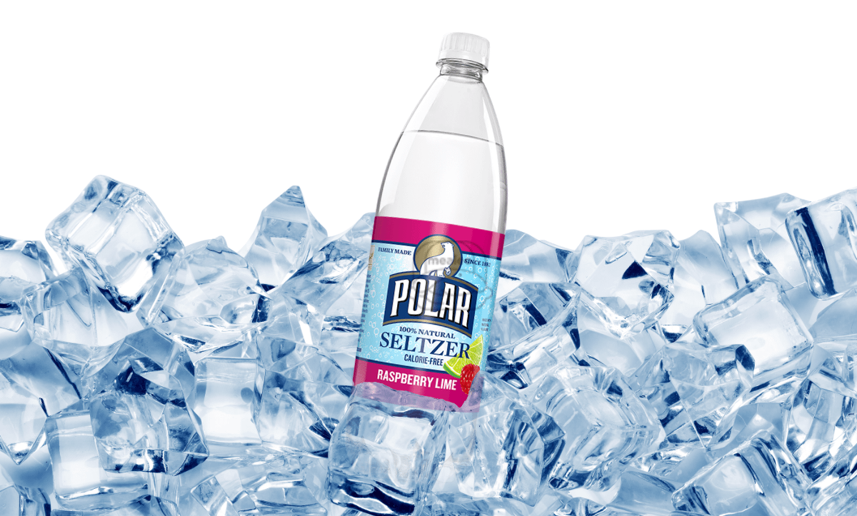 Raspberry Lime Polar Seltzer (20 oz Bottle)