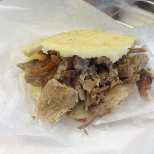 Pernil (Pulled Pork) Arepa