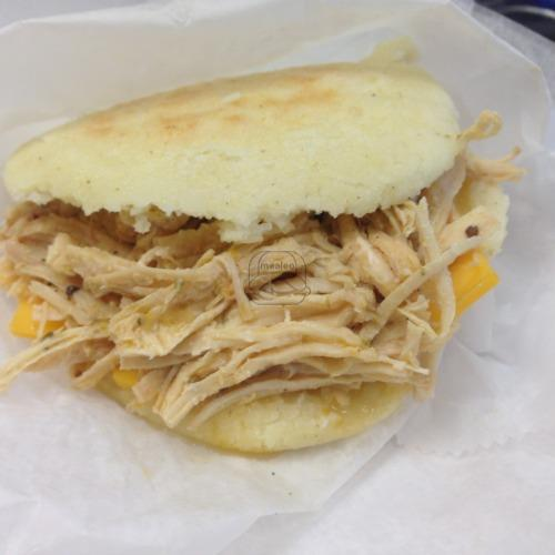 Seasoned Chicken Arepa